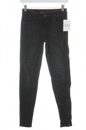 Zara Tube Jeans black-anthracite animal pattern animal print