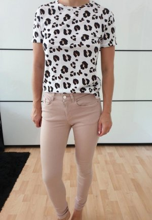 Zara Röhrenjeans XS 32 34 rosa nude skinny Röhre Jeans Hose Pants Leggings Neu