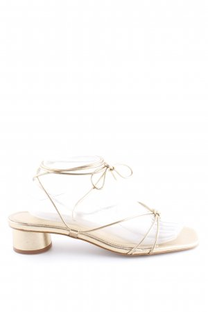 Zara Roman Sandals gold-colored elegant