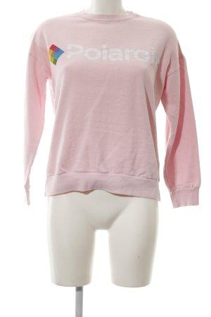 Zara Rollkragenpullover pink Motivdruck Casual-Look