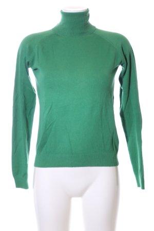 Zara Rollkragenpullover grün Casual-Look