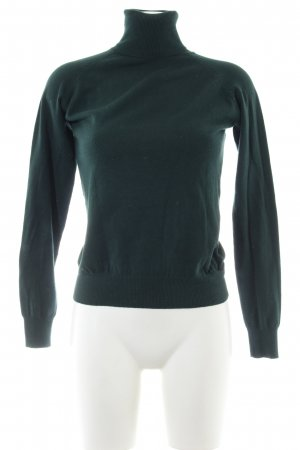 Zara Rollkragenpullover grün Business-Look