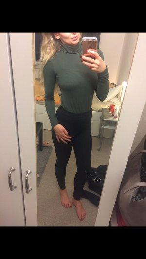 Zara Rollkragenpullover Gr s Khaki grün Shirt