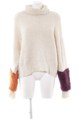 Zara Rollkragenpullover mehrfarbig extravaganter Stil