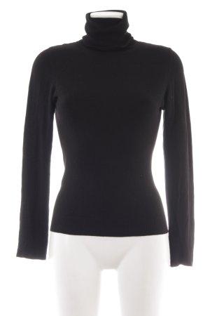 Zara Maglione dolcevita nero stile casual