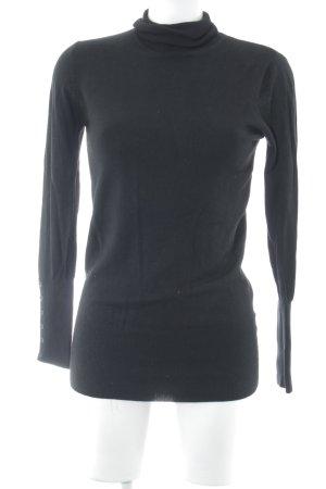 Zara Rollkragenpullover schwarz klassischer Stil
