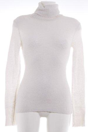 Zara Rollkragenpullover wollweiß schlichter Stil