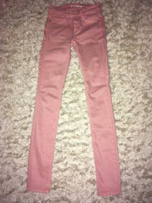 Zara Trafaluc Pantalon taille haute rose