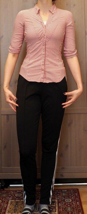 Zara rot-weiß-gestreifte Bluse