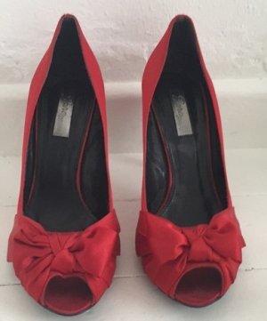 Zara rote Peeptoes Gr. 40