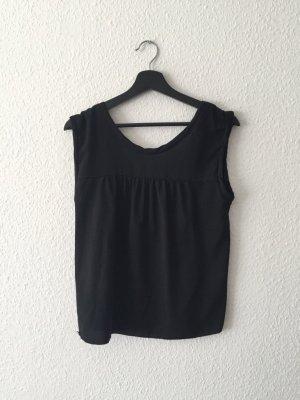 Zara Rückenausschnitt Top schwarz S