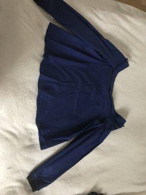 Zara Blusa sin espalda azul oscuro Algodón