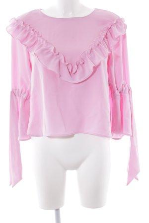 Zara Rüschen-Bluse rosa Elegant
