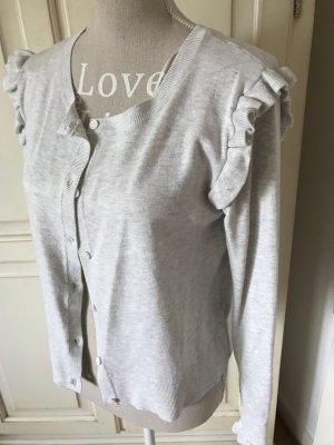 Zara Veste en tricot gris clair