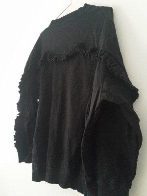 zara Rüschen Sweatshirt L schwarz cos arket