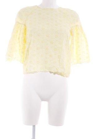 Zara Top à volants jaune primevère motif de fleur style Boho