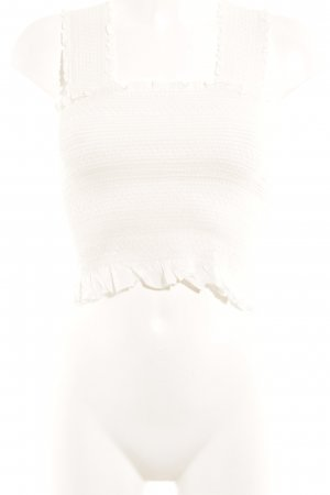 Zara Frill Top natural white romantic style