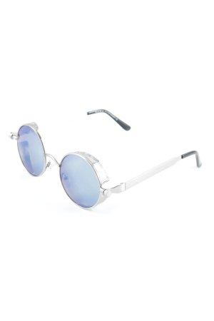 Zara runde Sonnenbrille silberfarben-stahlblau Gypsy-Look