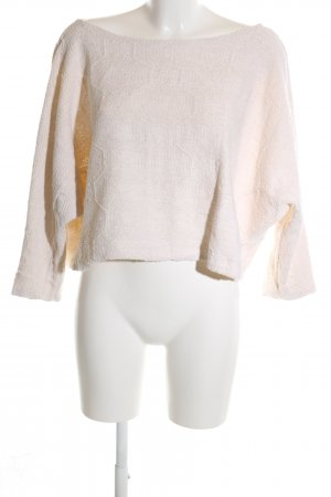 Zara Crewneck Sweater cream casual look