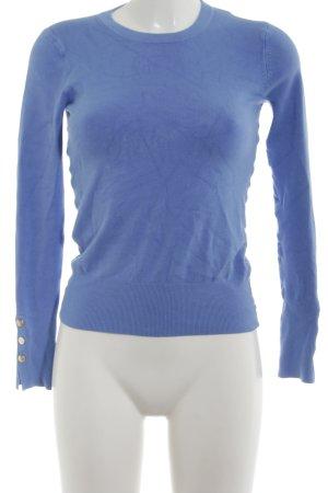 Zara Maglione girocollo blu neon stile casual
