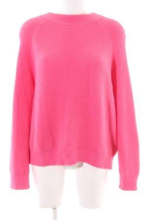 Zara Rundhalspullover pink Casual-Look