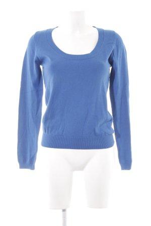 Zara Jersey de cuello redondo azul look casual