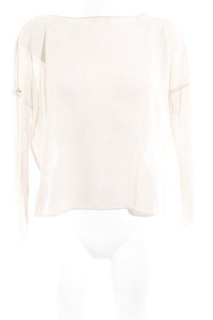 Zara Jersey de cuello redondo crema look casual
