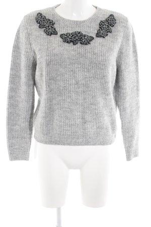 Zara Maglione girocollo grigio chiaro modello web stile casual