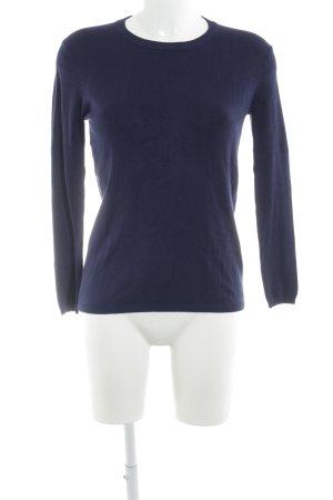 Zara Rundhalspullover dunkelblau schlichter Stil
