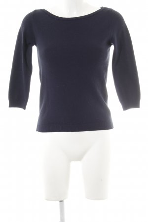 Zara Crewneck Sweater dark blue simple style