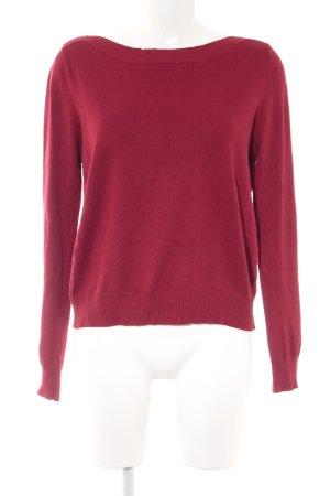 Zara Maglione girocollo rosso scuro stile casual