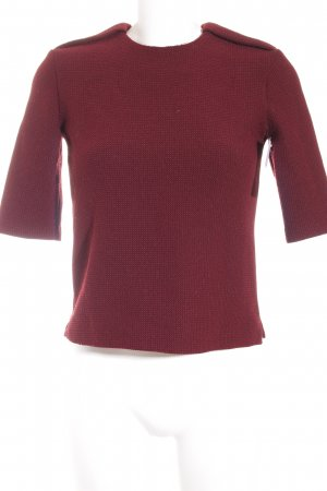 Zara Rundhalspullover dunkelrot minimalistischer Stil
