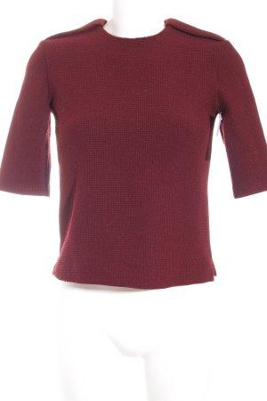Zara Pull ras du cou rouge foncé style minimaliste