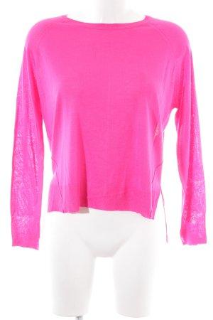 Zara Maglione girocollo rosa stile casual