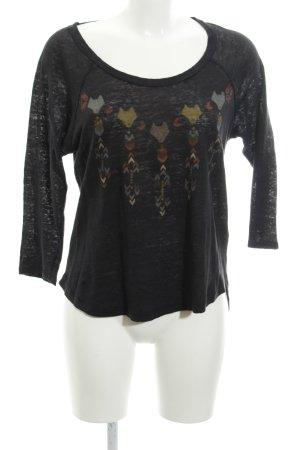 Zara Jersey de cuello redondo estampado temático estilo College