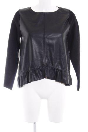 Zara Rundhalspullover schwarz extravaganter Stil