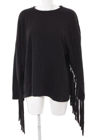 Zara Maglione girocollo nero stile semplice