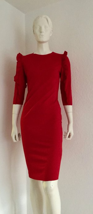 Zara S Red Dress Carmen Ärmel New