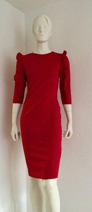 Zara S Red Dress Carmen Ärmel New