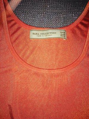 Zara Haut basique saumon-rouge clair