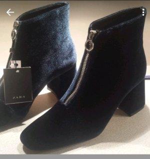 Zara Low boot bleu foncé