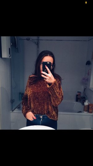 Zara Jersey de ganchillo color bronce