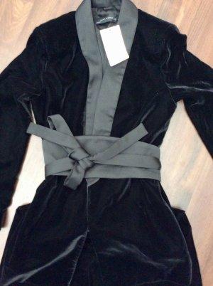 Zara Woman Blazer de esmoquin negro