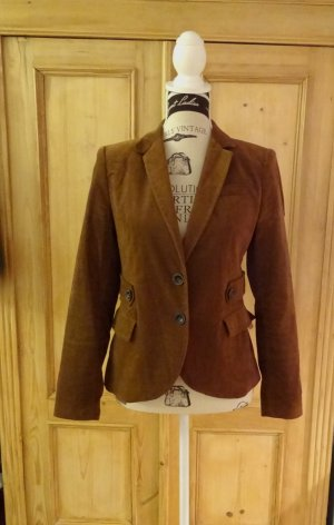 Zara Samtblazer m. Patches - Cognac - Gr. M