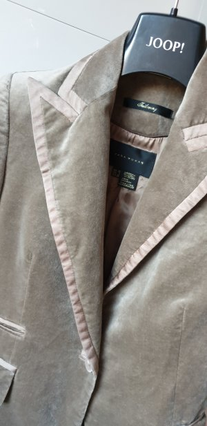 Zara Woman Blazer de esmoquin taupe-beige