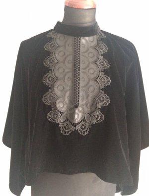Zara Poncho black