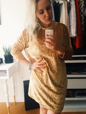 Zara Samtkleid gold * Knielang