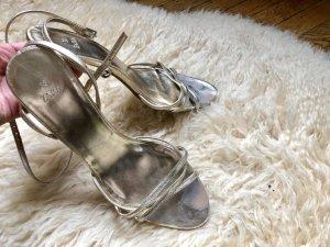 Zara Sandale gold, mittelhoch gr 38