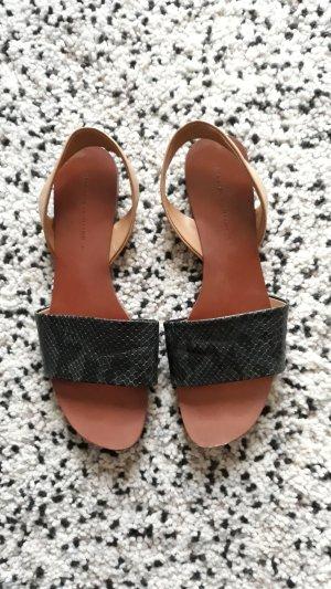 Zara Basic Sandalo con cinturino bronzo-cachi