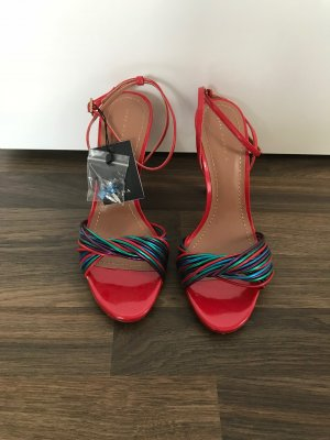 Zara Strapped High-Heeled Sandals multicolored